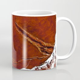 Red Marble Art Coffee Mug