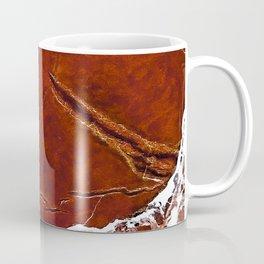 Red Marble Art Coffee Mug