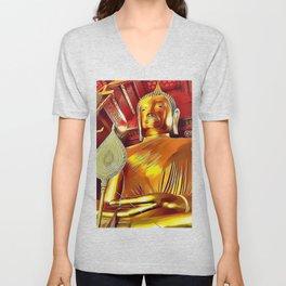 golden buddha Unisex V-Neck