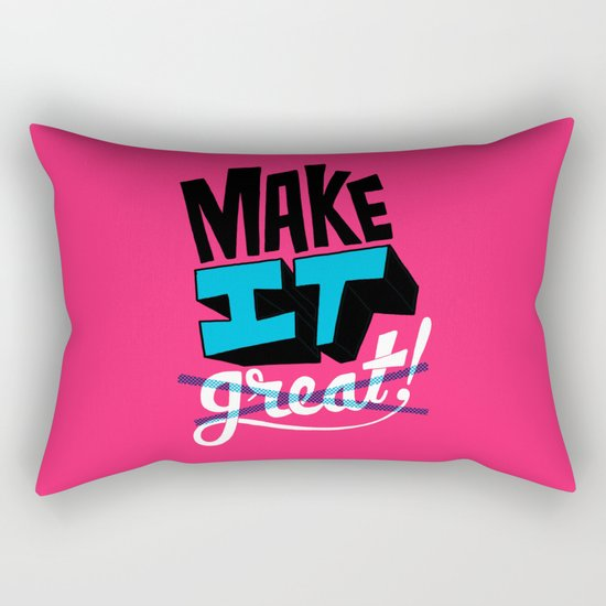 Make It Rectangular Pillow