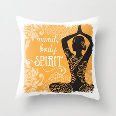 Mind, Body, Spirit Throw Pillow