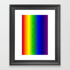Pride. Framed Art Print
