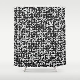 Heap of chess pieces on chessboard Shower Curtain