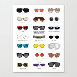 Cinema Sunglasses Canvas Print