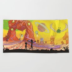 Rick and Morty - Silhouette Beach Towel