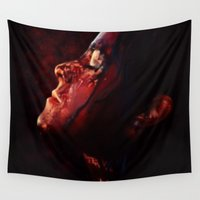 blood Wall Tapestries featuring Blood Rain by Kate Dunn