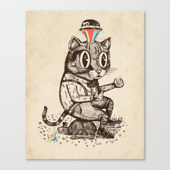 Strange Cat Canvas Print