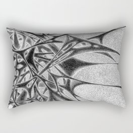 Panic with White Scribbles Rectangular Pillow