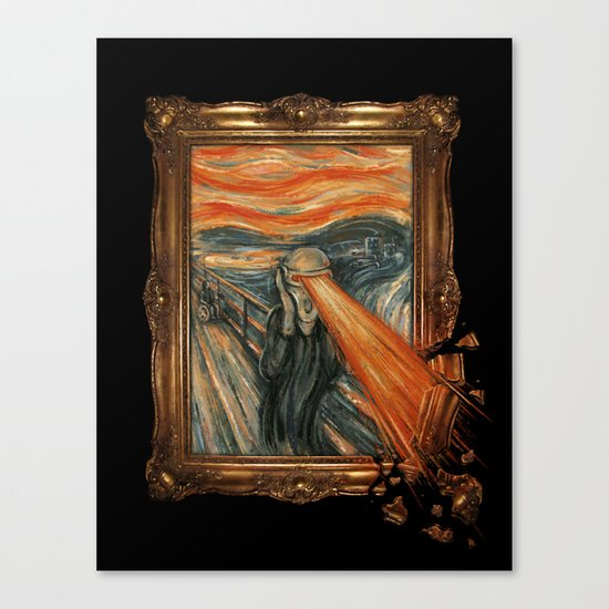 Art Attack Canvas Print