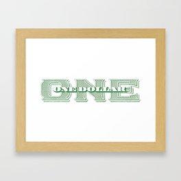 Retro 1928 Dollar Framed Art Print