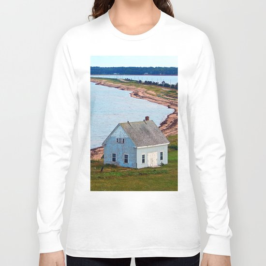 Beach and Causeway, seen from Above Long Sleeve T-shirt