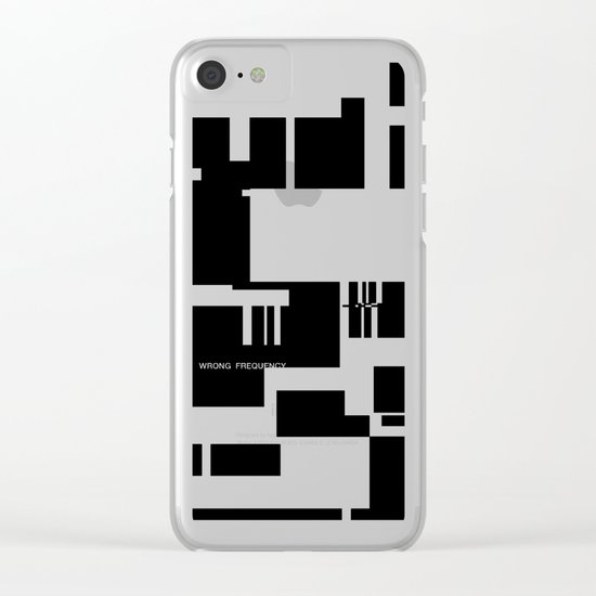 Wrong Frequency Clear iPhone Case