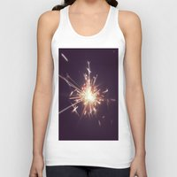 fireworks Tank Tops featuring Fireworks by Machiine
