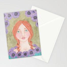 Anemone Girl Stationery Cards