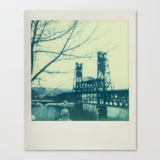Steel Bridge - Polaroid Canvas Print
