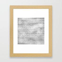 Black Stripes II Framed Art Print