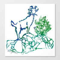Goatie McGoatersons Canvas Print
