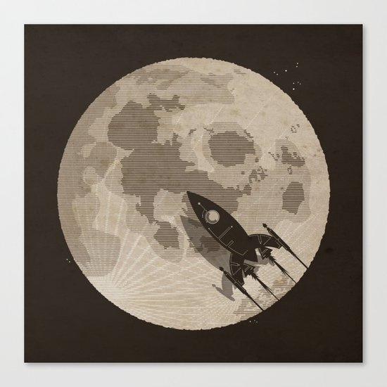 Around the Moon Canvas Print