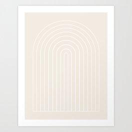 Minimalist Arch II - Subtle Off White Art Print