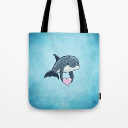 Love Ya! ~ Baby Dolphin by Amber Marine ~ Blue ~ (Copyright 2014) Tote Bag