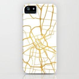 NASHVILLE TENNESSEE CITY STREET MAP ART iPhone Case