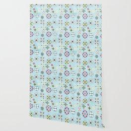 Christmas snowflakes pattern Wallpaper