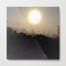 Sun in fog Metal Print