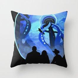 Europa Space Travel Retro Art Throw Pillow