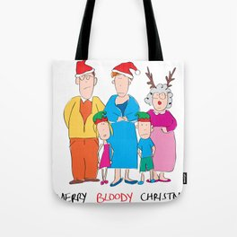Merry Bloody Christmas Tote Bag