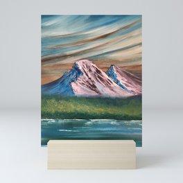 Pink and Blue Mountains Mini Art Print
