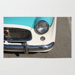 Vintage Car Headlight Rug