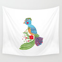 The Blue Quetzal Wall Tapestry
