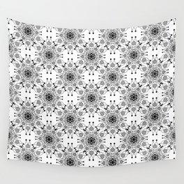 Black lace print elegant ornament Wall Tapestry