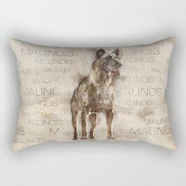 Belgian Malinois - Mechelaar  - Maligator Rectangular Pillow
