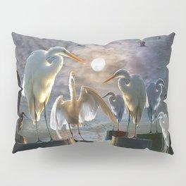 Fantasy Image of Bird Gathering Pillow Sham