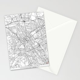 Hanover Map White Stationery Cards