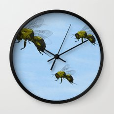 Flight of the Bumblebees Wall Clock