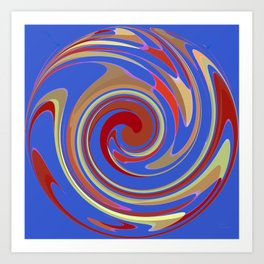 Twirling Blue Art Print