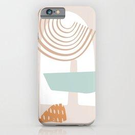 Modern Shapes #illustration #digitalart iPhone Case