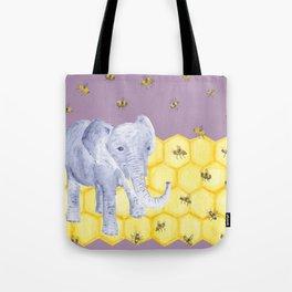 Elephant & Bees Tote Bag