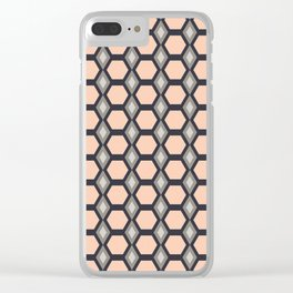 Pink Hexies Clear iPhone Case