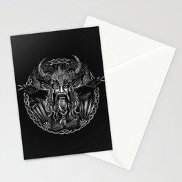 Odin and his ravens Huginn and Muninn Stationery Cards