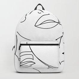 Woman in One Line II Backpack