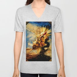 "Gustave Moreau ""La chute de phaéton (The Fall of Phaeton)"" Unisex V-Neck"