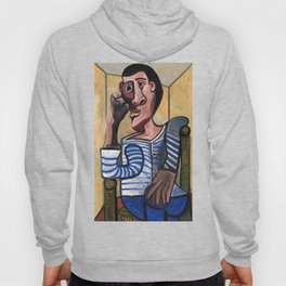 Pablo Picasso The Sailor 1943 Artwork for Wall Art, Prints, Posters, Tshirts, Men, Women, Kids Hoody