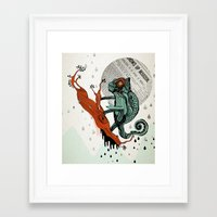 chameleon Framed Art Prints featuring CHAMELEON by taniavisual