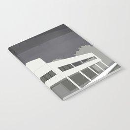 Villa Savoye / Le Corbusier ! Architectural poster! Notebook