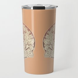 Moth & Moon | Autumn Terra Cotta Palette | Nature Art Travel Mug
