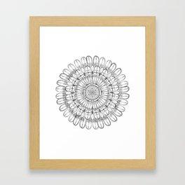Flower Mandala Framed Art Print