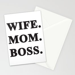Wife Mom Boss! Stationery Cards